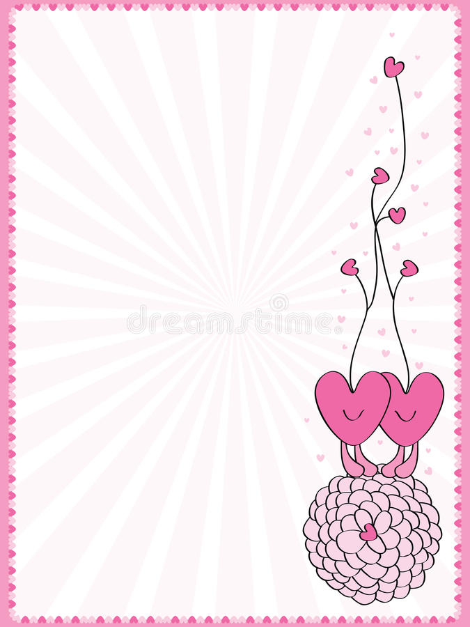 De decoratie van het liefdekader royalty-vrije illustratie
