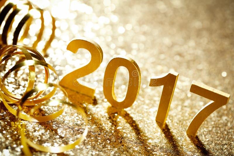 De Decoratie van het nieuwjaar stock afbeeldingen