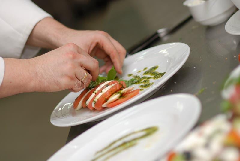 De decoratie van het voedsel stock afbeeldingen