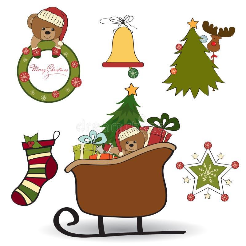 De decoratie van Kerstmis stock illustratie