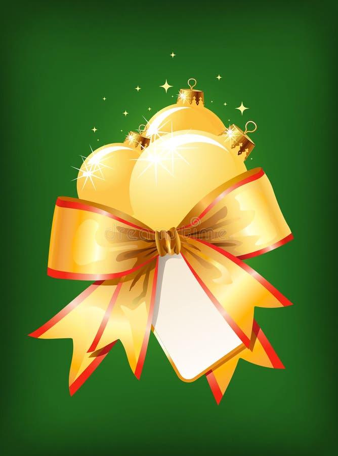 De decoratie van Kerstmis/boog en ballen/vector royalty-vrije illustratie