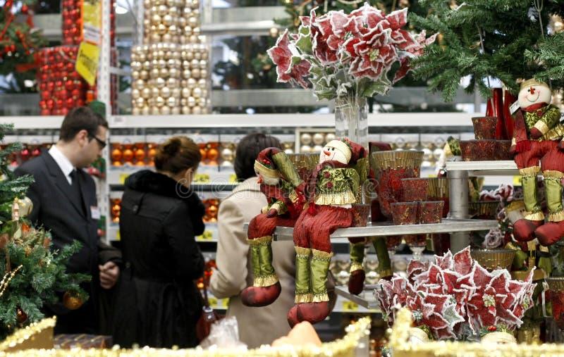 De decoratie van Kerstmis het winkelen royalty-vrije stock foto