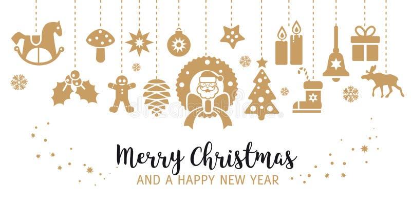 De decoratie van Kerstmis Illustratie met decoratieve Kerstmis ele stock illustratie
