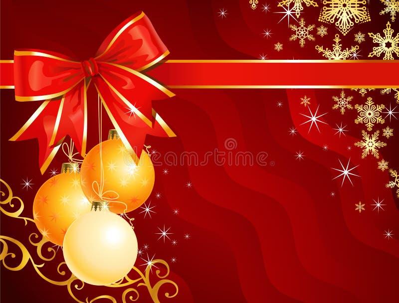 De decoratie van Kerstmis met lint/vector royalty-vrije illustratie