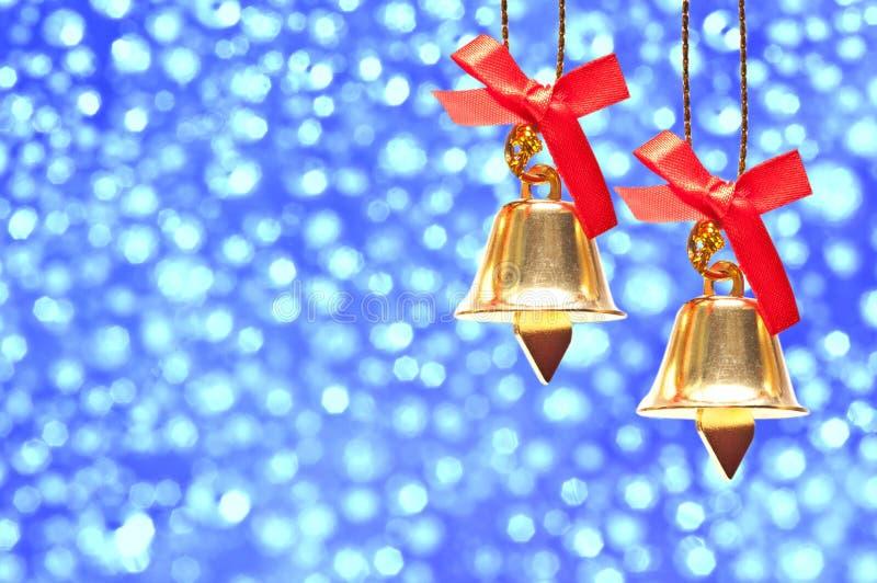 De decoratie van Kerstmis op abstracte achtergrond royalty-vrije stock foto's