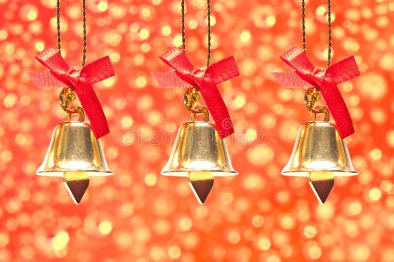 De decoratie van Kerstmis op abstracte achtergrond stock foto