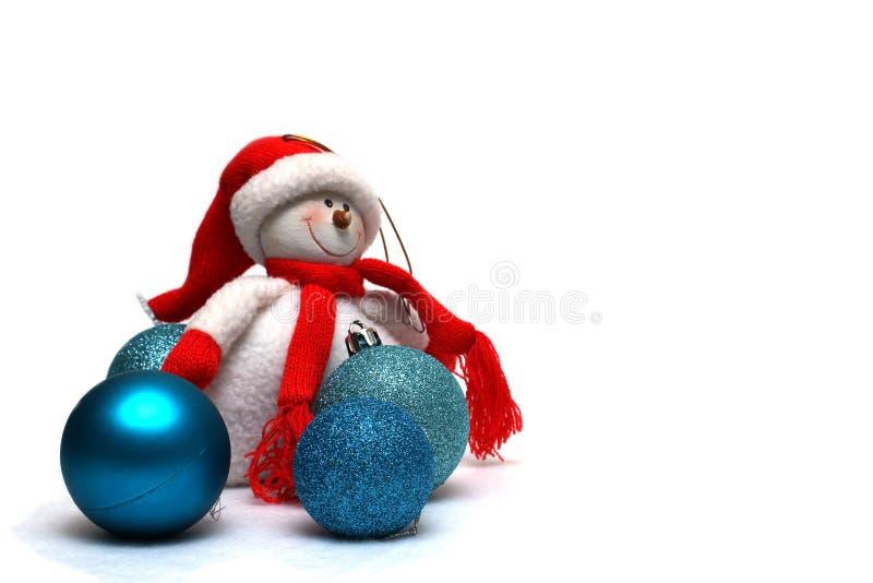 De decoratie van Kerstmis op een witte achtergrond stock foto