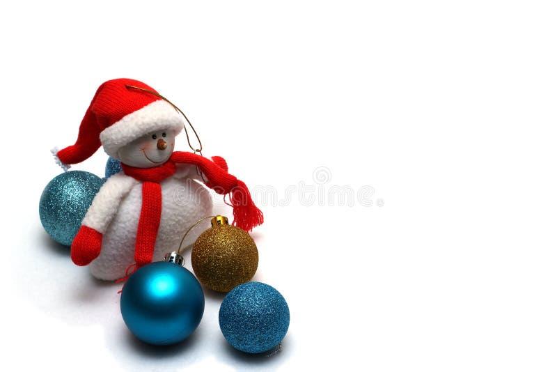 De decoratie van Kerstmis op een witte achtergrond royalty-vrije stock afbeeldingen