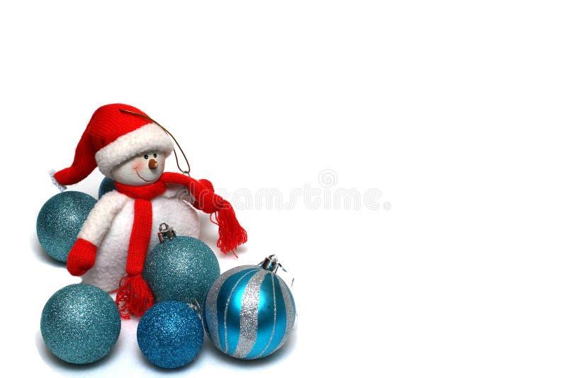 De decoratie van Kerstmis op een witte achtergrond stock fotografie