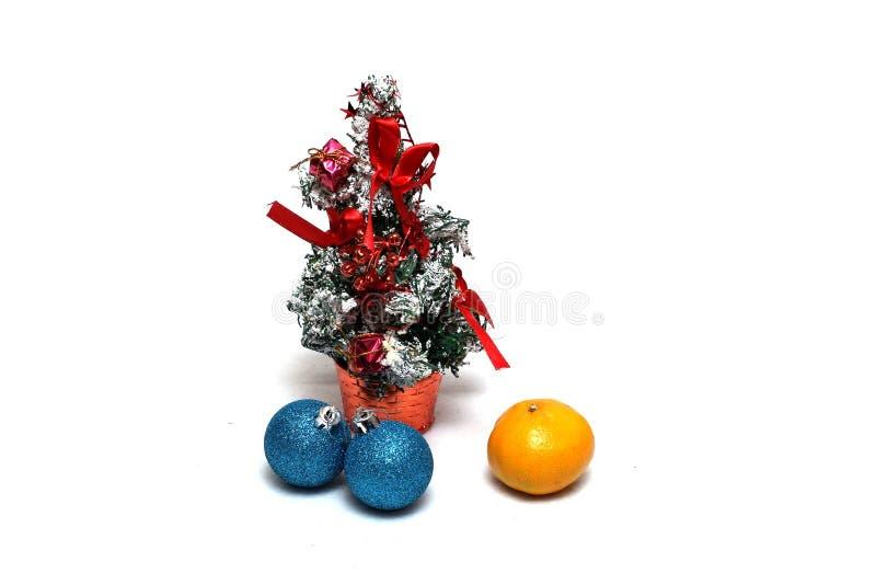 De decoratie van Kerstmis op een witte achtergrond royalty-vrije stock foto