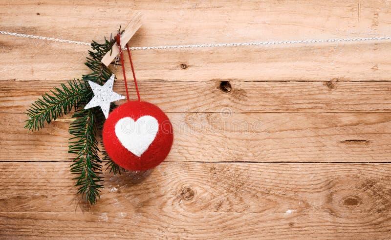 De decoratie van Kerstmis van het land stock afbeeldingen