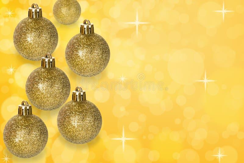De decoratie van Kerstmisballen op abstracte bokehachtergrond royalty-vrije stock foto