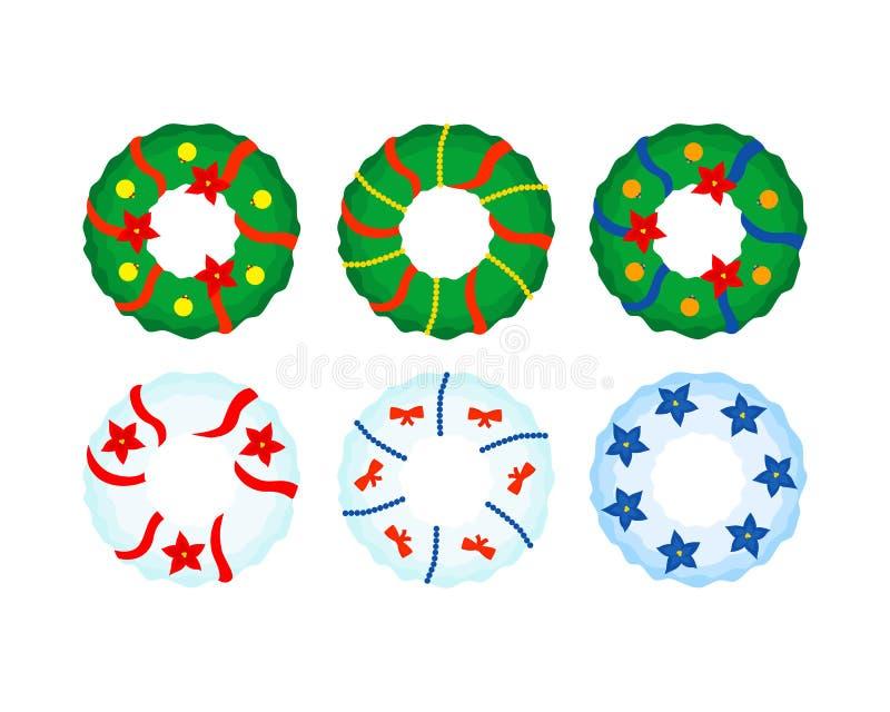 De decoratie van de Kerstmiskroon vector illustratie
