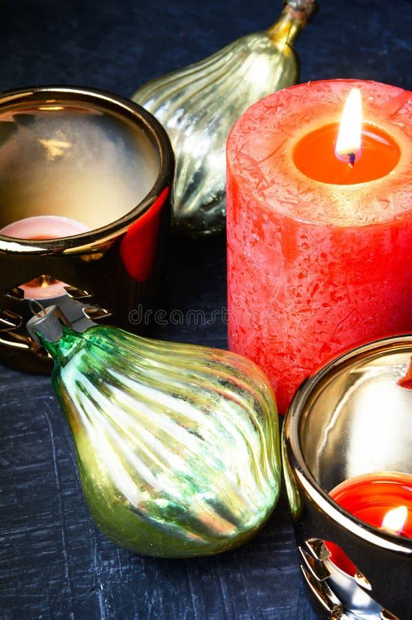 De Decoratie van de Kerstmisvakantie stock foto