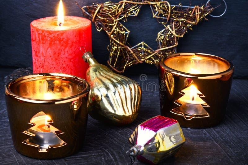 De Decoratie van de Kerstmisvakantie stock foto's