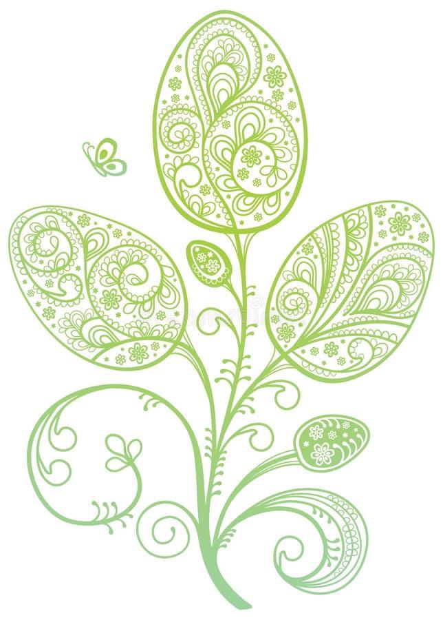 De decoratie van Pasen. vector illustratie