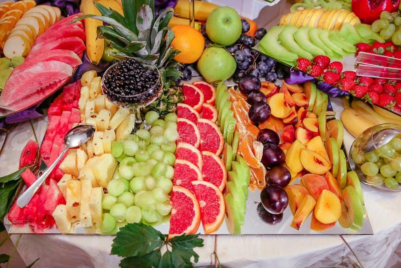 De decoratie van vruchten royalty-vrije stock fotografie