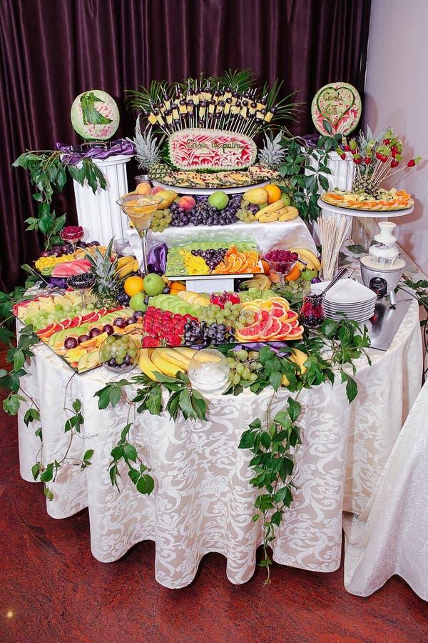 De decoratie van vruchten royalty-vrije stock foto's