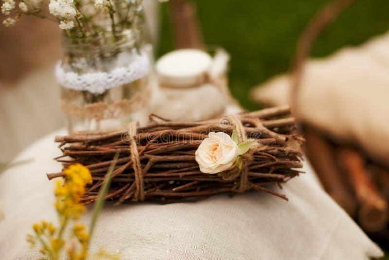 De decoratie voor een foto schieten in de stijl van sjofele elegant, branc royalty-vrije stock foto