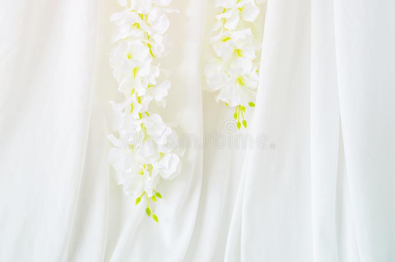 De decoratieachtergrond van de huwelijksbloem royalty-vrije stock foto