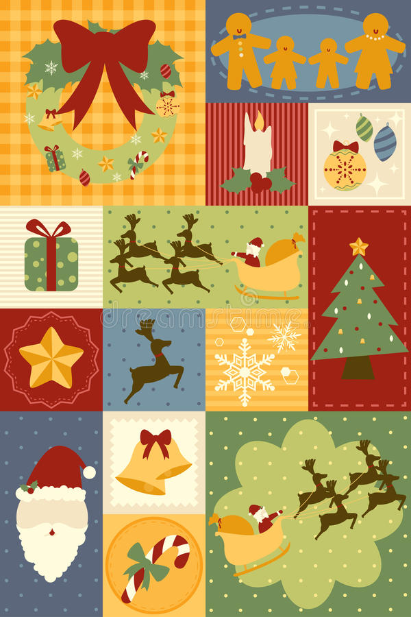 De decoratiebehang van Kerstmis royalty-vrije illustratie