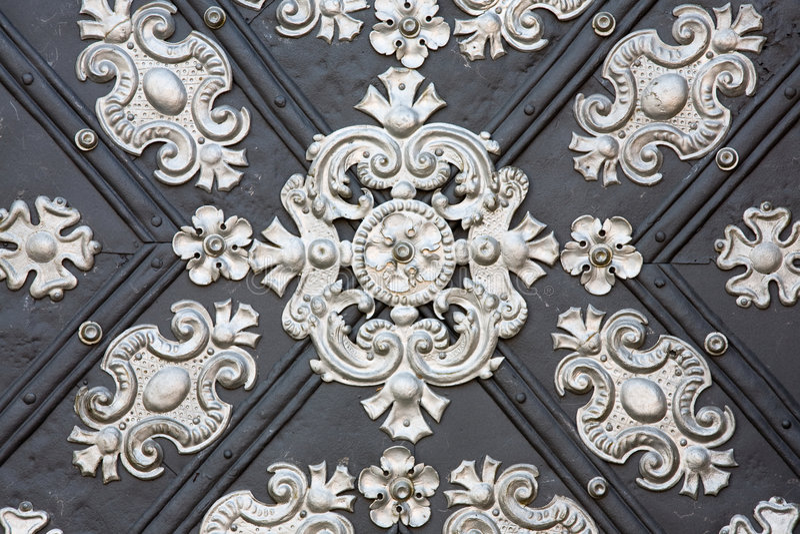 De decoratiedetail van het metaal royalty-vrije stock afbeelding