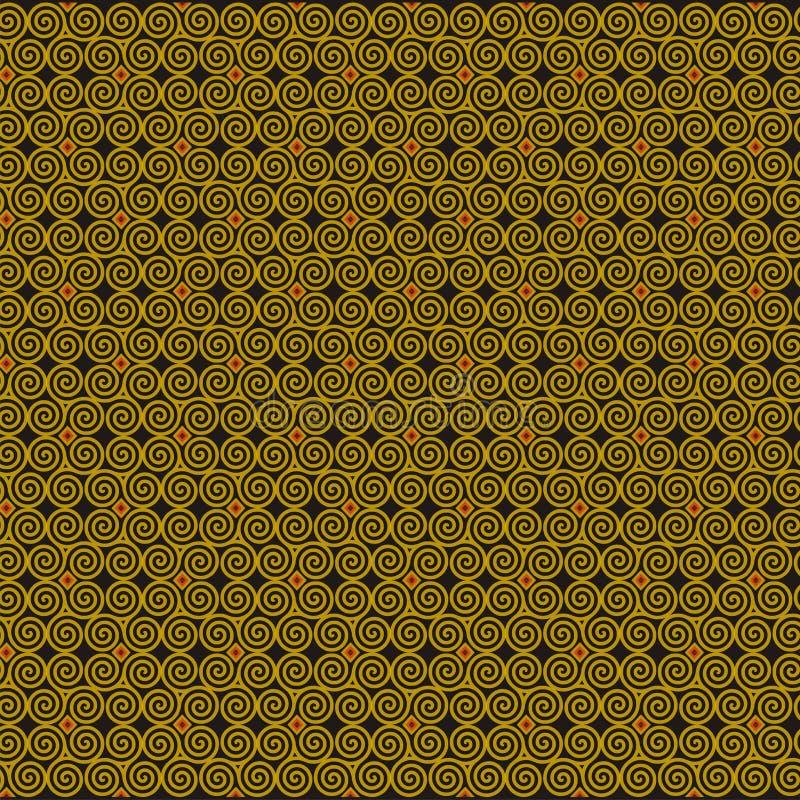De decoratiemotief van de wervelingsbatik vector illustratie