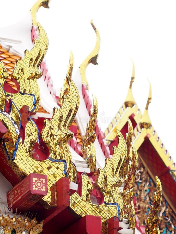 De decoratieornament van het tempeldak stock foto