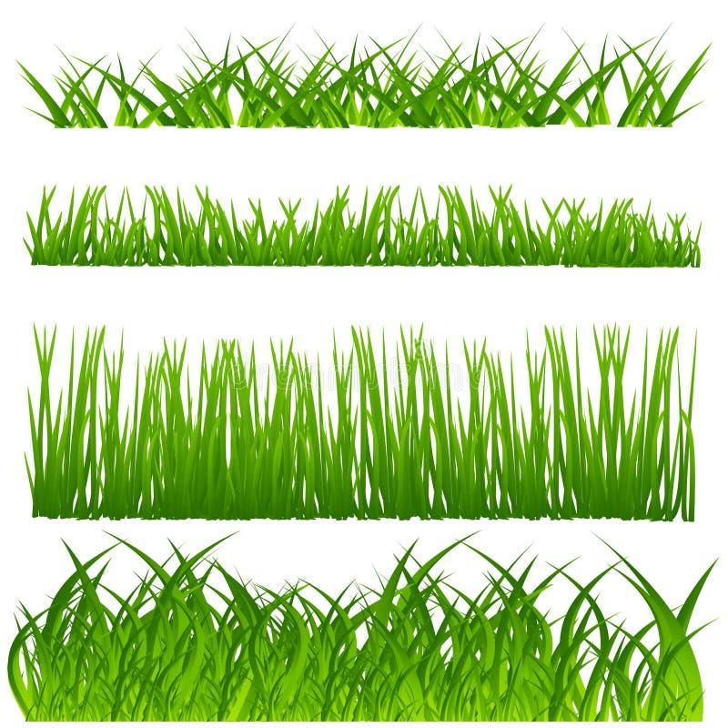 De decoratiereeks van het gras royalty-vrije illustratie