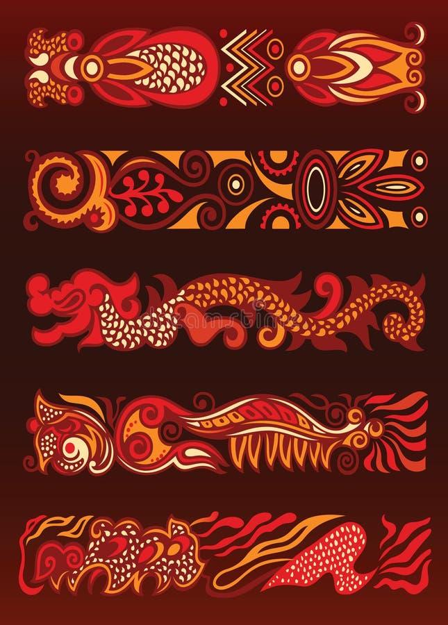 De decoratieve Elementen van het Ornament stock illustratie