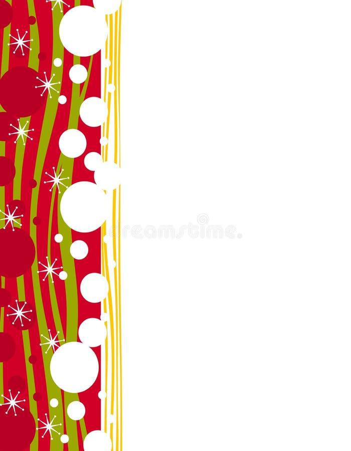 De decoratieve Grens van de Pagina van Kerstmis royalty-vrije illustratie