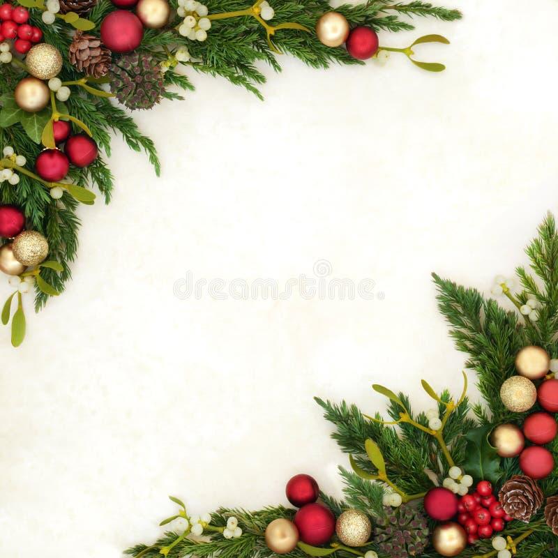 De decoratieve Grens van Kerstmis royalty-vrije stock foto