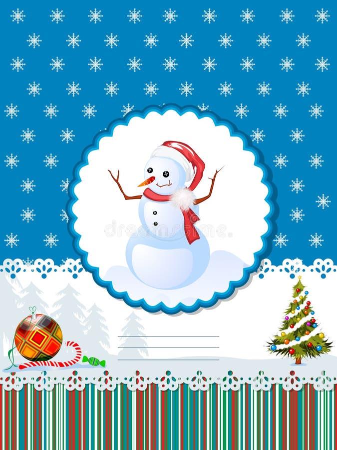 De decoratieve kaart van de de wintervakantie