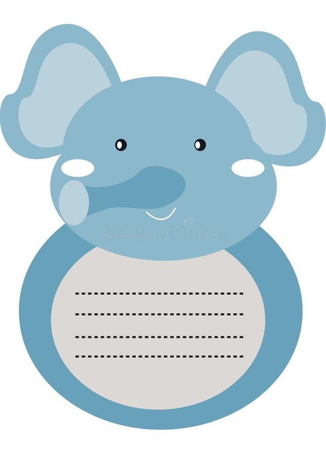 De decoratieve kantoorbehoeften van de olifantsbrief vector illustratie