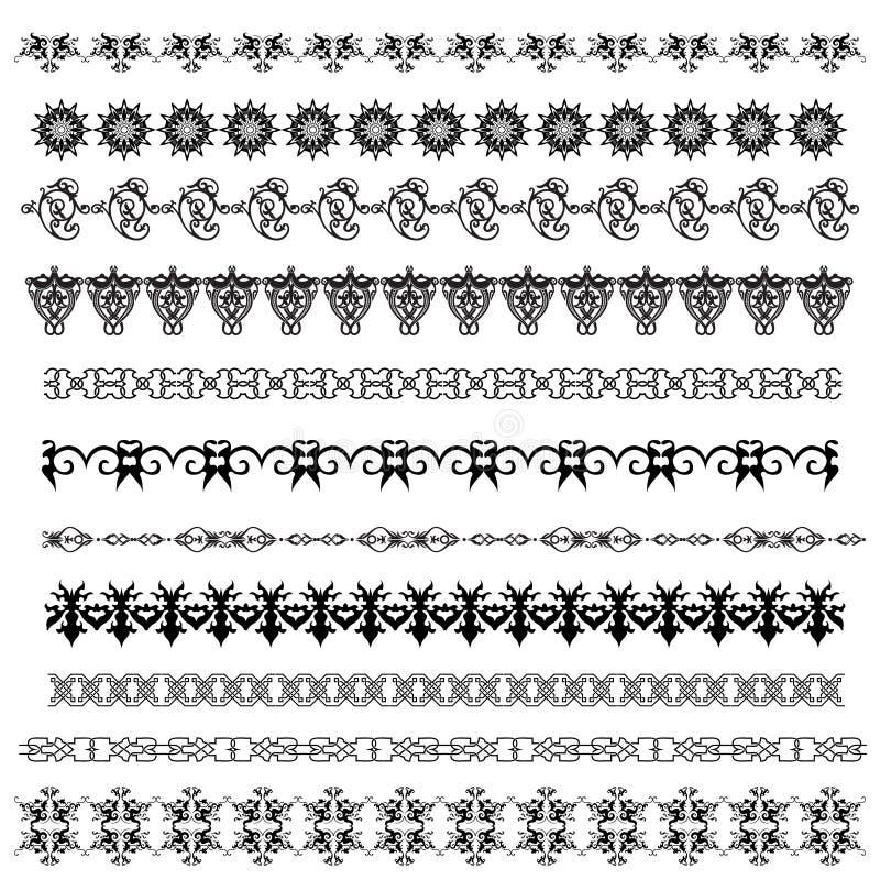 De decoratieve lijnen van de Regel stock illustratie