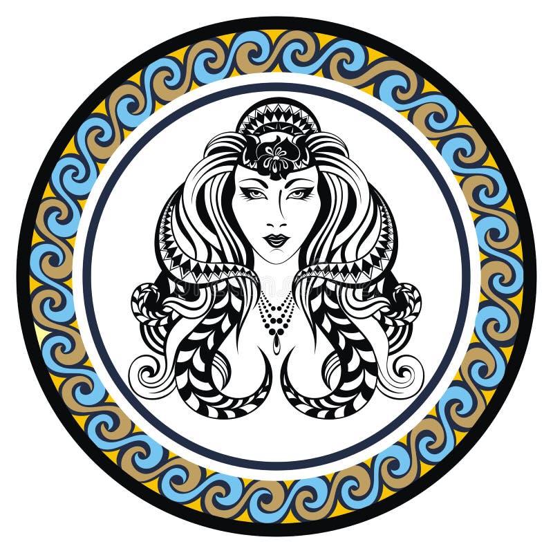 De decoratieve Maagd van het Dierenriemteken vector illustratie