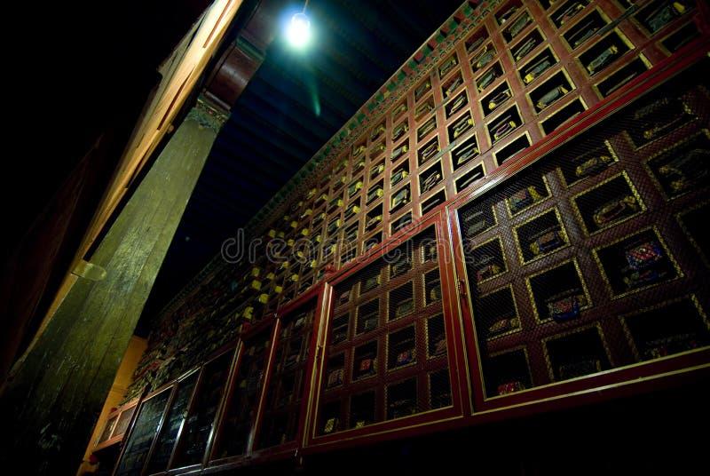 De decoratieve muur van het Paleis Potala stock foto