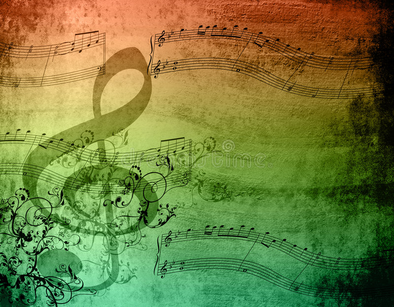De decoratieve Nota's van de Muziek royalty-vrije stock fotografie