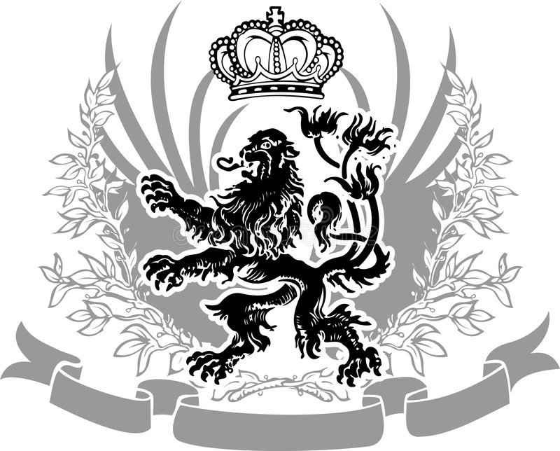 De decoratieve Overladen Banner van de Wapenkunde. royalty-vrije illustratie