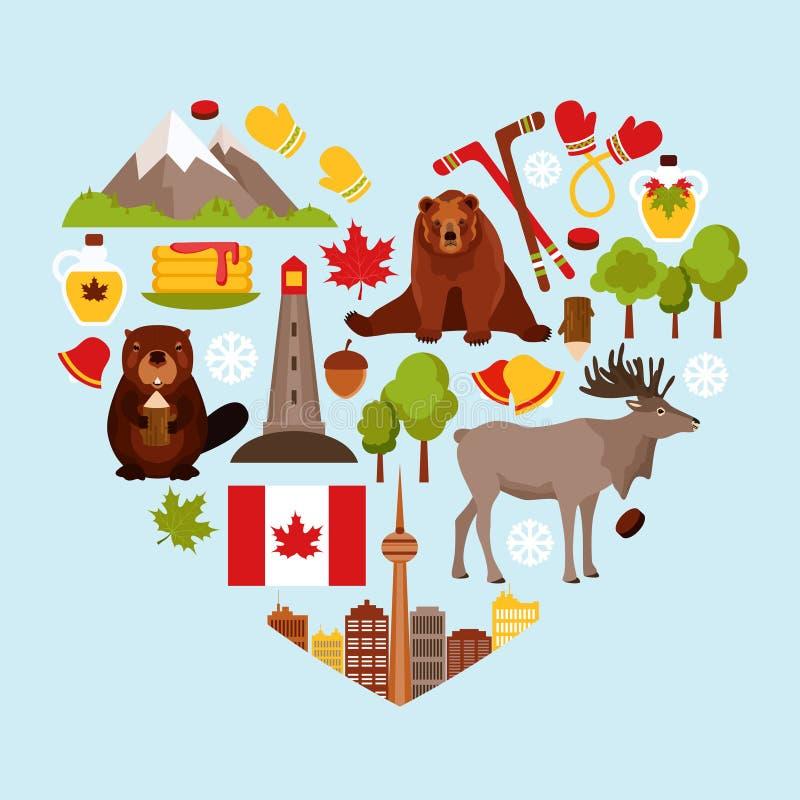 De decoratieve reeks van Canada stock illustratie