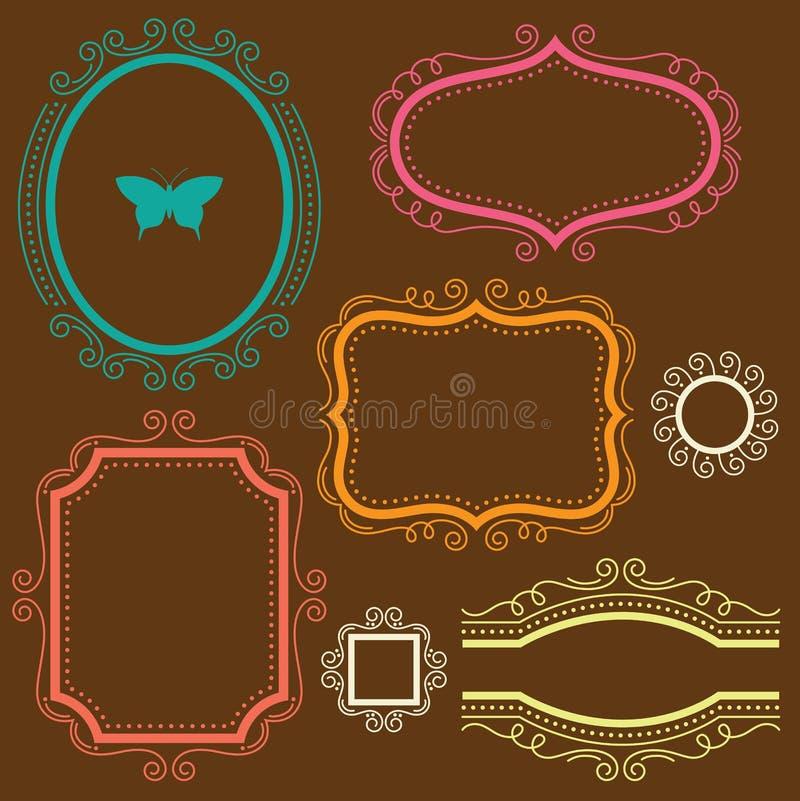 De decoratieve Reeks van het Frame royalty-vrije illustratie