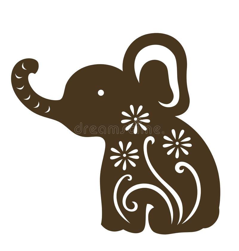 De decoratieve zitting van de babyolifant stock fotografie