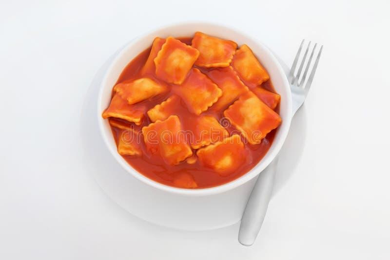 De Deegwaren van de ravioli royalty-vrije stock foto