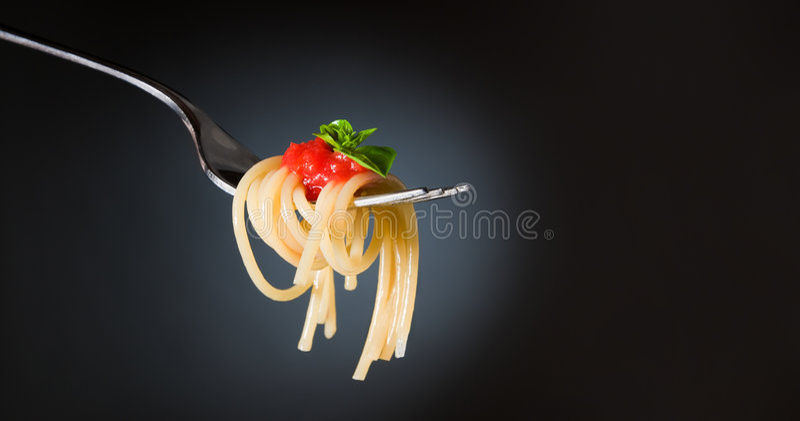 De deegwaren van de spaghetti stock fotografie
