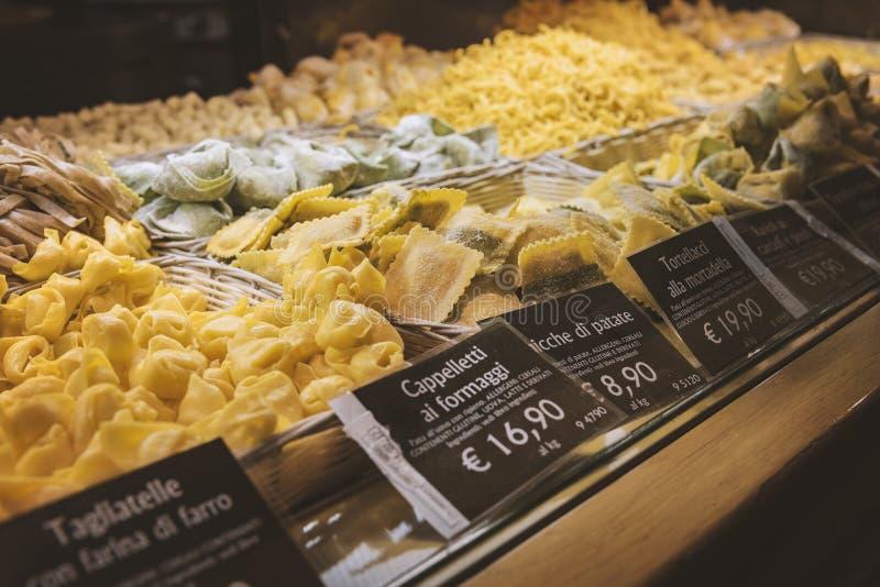 De deegwaren van het voedselhof stock fotografie