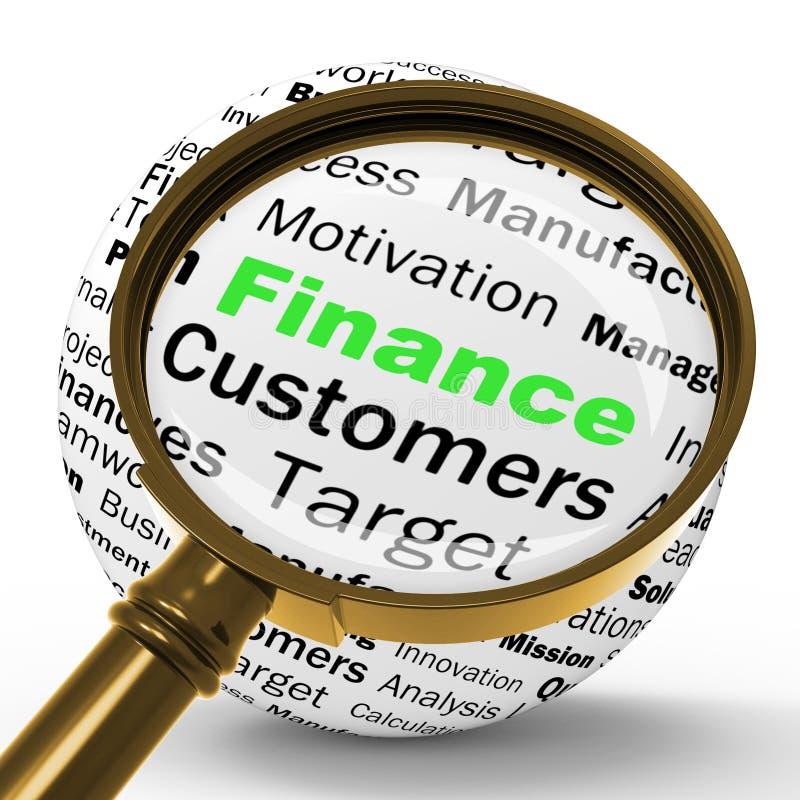 De Definitie van financiënmagnifier toont bedrijfsfinanciën of Inkomens vector illustratie