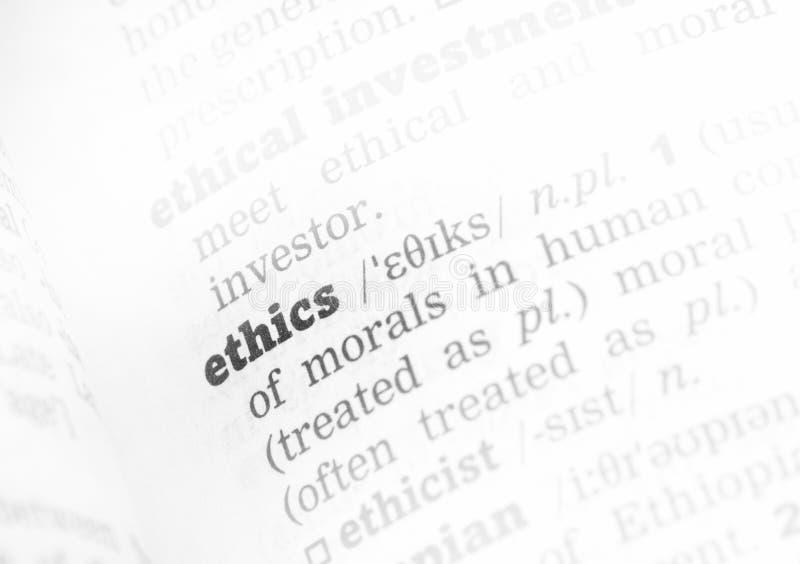 De Definitie van het ethiekwoordenboek royalty-vrije stock foto's