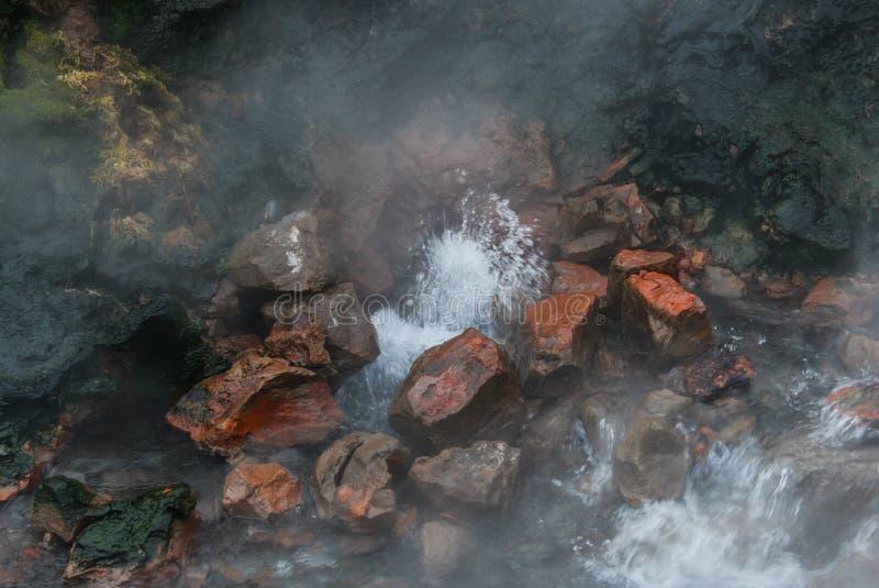 De Deildartunguhver Geothermische Lente, IJsland stock afbeeldingen