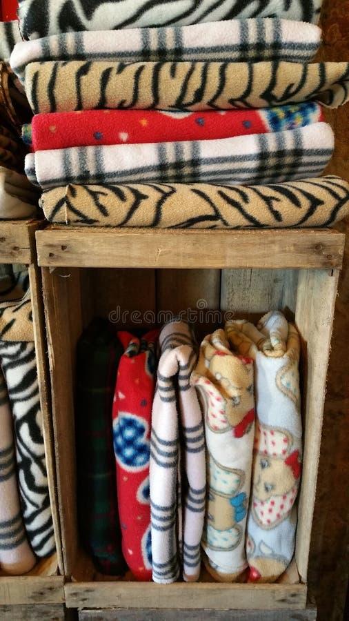 De dekens van de de winterwarmte royalty-vrije stock fotografie