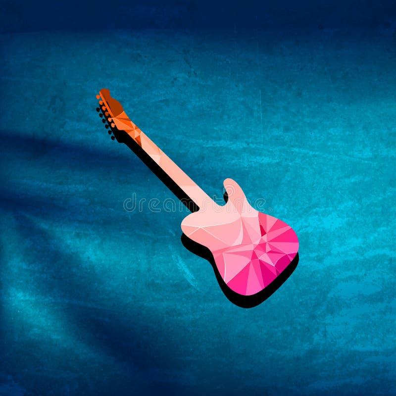 De dekking van de gitaarveelhoek royalty-vrije illustratie